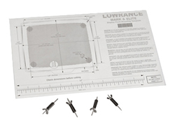 Lowrance Mounting Solutions lowrance fm me5 flush mount kit