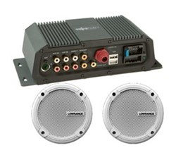 Lowrance Weather and Entertainment lowrance sonichub marine audio server with 6 5 inch speakers