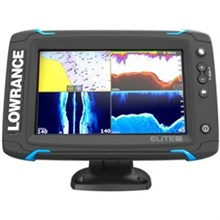 Lowrance Elite 7 Series Fishfinders lowrance elite 7 ti touch combo w totalscan transom mount transducer and navionics plus chart