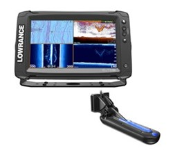 Hot Deals lowrance elite 9 ti with totalscan transom mount tranducer insight pro by c map chart