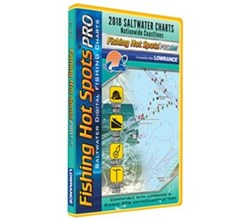 Fishing Hot Spots fishing hot spots pro sw 2018 digital map and fishing chip salt water e188